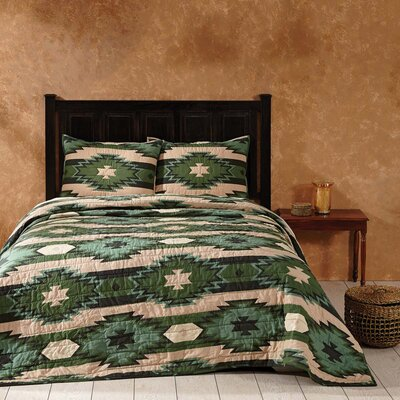 Charnwood Quilt Color: Pine, Size: California King