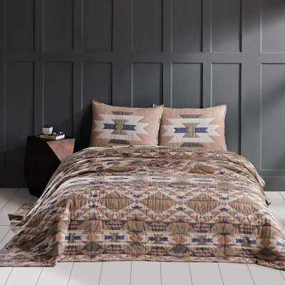 Cedrick Quilt Color: Gray, Size: Queen