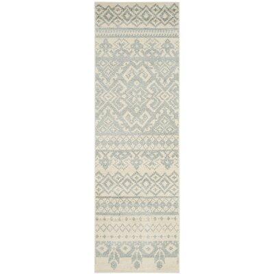 Cavileer Ivory/Slate Area Rug Rug Size: 3 x 5