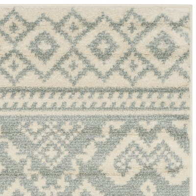 Cavileer Ivory/Slate Area Rug Rug Size: Rectangle 26 x 4
