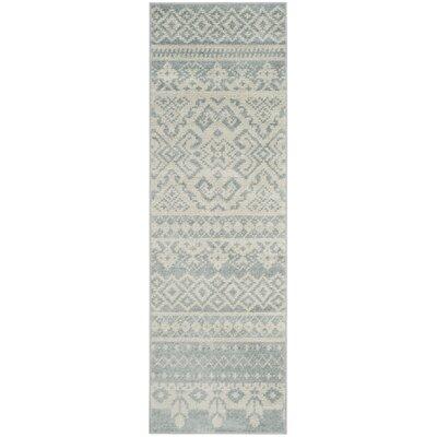 Cavileer Slate/Ivory Area Rug Rug Size: Runner 26 x 8