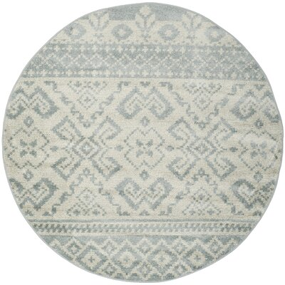 Cavileer Slate/Ivory Area Rug Rug Size: Rectangle 51 x 76