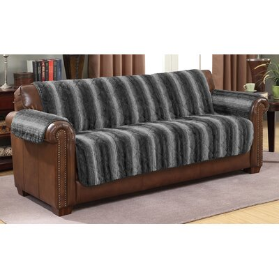 Luxury Microfiber Sofa Slipcover Color: Dark Gray