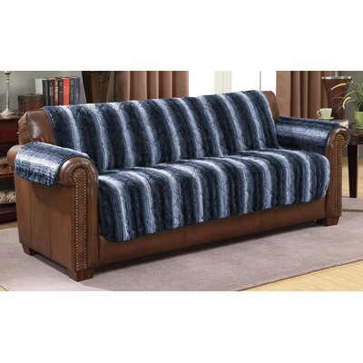 Luxury Microfiber Sofa Slipcover Color: Indigo