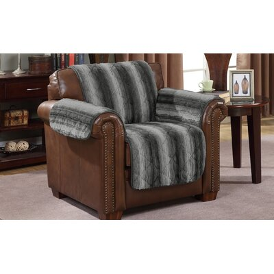 Luxury Box Cushion Armchair Slipcover Color: Dark Gray
