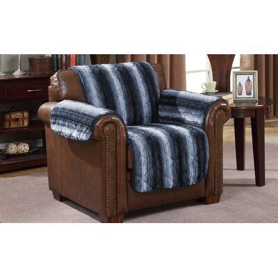 Luxury Microfiber Armchair Slipcover Color: Indigo