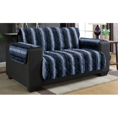 Luxury Box Cushion Loveseat Slipcover Color: Indigo