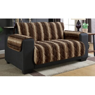 Luxury Microfiber Loveseat Slipcover Color: Pumice stone