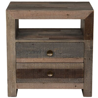 Needham 2 Drawer Nightstand Finish: Charcoal