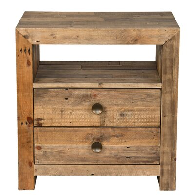 Needham 2 Drawer Nightstand Finish: Natural