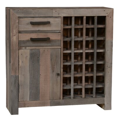 Needham 28 Bottle Floor Wine Cabinet Finish: Charcoal