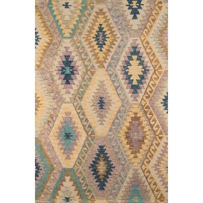 Sunnyvale Handmade Beige Area Rug Rug Size: 5 x 8