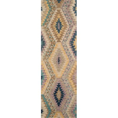 Sunnyvale Handmade Beige Area Rug Rug Size: Rectangle 96 x 136