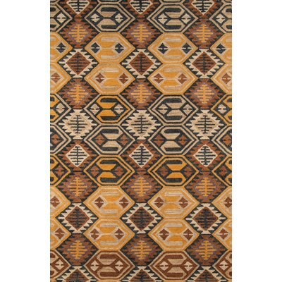 Sunnyvale Handmade Black Area Rug Rug Size: Rectangle 76 x 96
