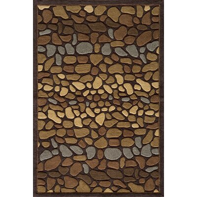 Baileyville Hand-Tufted Brown Area Rug Rug Size: 36 x 56