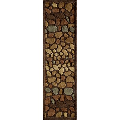 Baileyville Hand-Tufted Brown Area Rug Rug Size: Runner 23 x 8