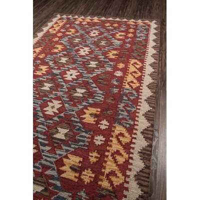Azure Hand-Tufted Red Area Rug Rug Size: 5 x 8