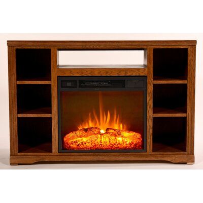 Glastonbury 48 TV Stand with Fireplace Color: Light Oak