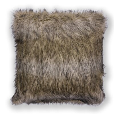 Half Dome Exotics Faux Fur Throw Pillow