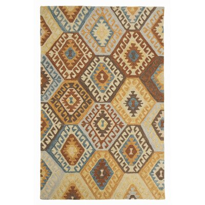 Pinchot Hand-Tufted Blue/Brown Area Rug Rug Size: 5 x 8