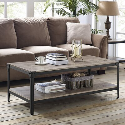 Arboleda Rustic Wood Coffee Table Finish: Driftwood