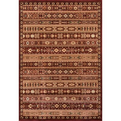 Garfield Red Area Rug Rug Size: 93 x 126