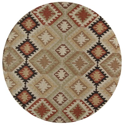 Madison Handmade Indoor/Outdoor Area Rug Rug Size: Round 9