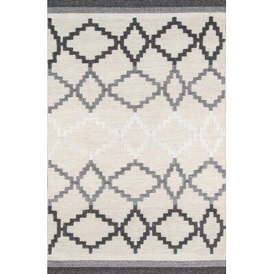 Middleborough Hand-Woven Gray Area Rug Rug Size: Rectangle 5 x 8