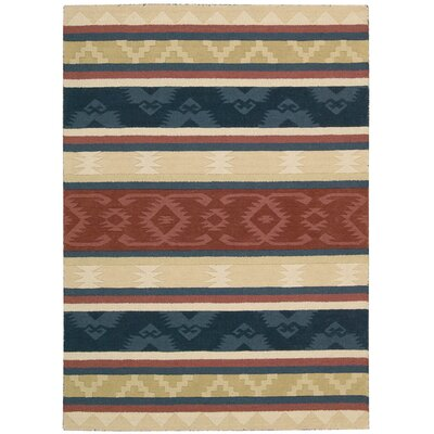 Atna Red/Blue Area Rug Rug Size: Rectangle 26 x 4