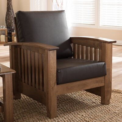 Agoura Hills Faux Leather Arm Chair