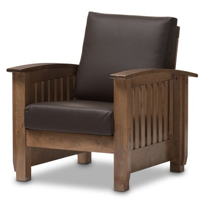 Agoura Hills Faux Leather Armchair