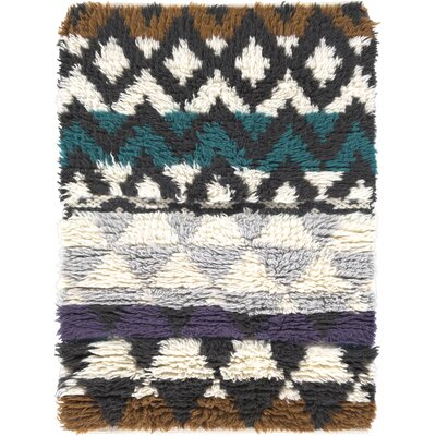 Levell Hand Woven Gray Area Rug Rug Size: Rectangle 2 x 3