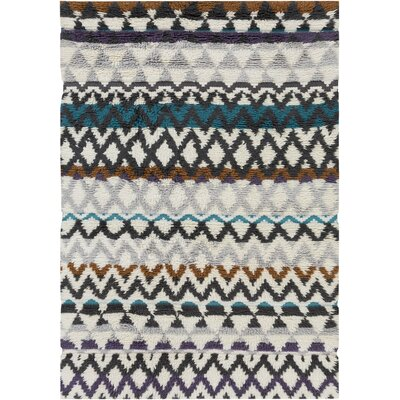 Levell Hand Woven Gray Area Rug Rug Size: 5 x 8