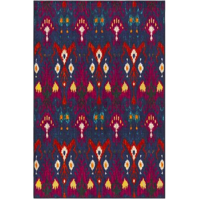 Coso Blue/Red Area Rug Rug Size: Rectangle 8 x 10