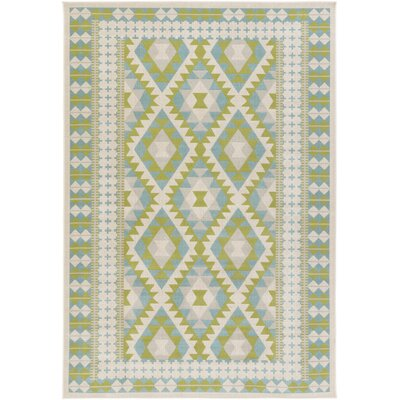 Agosto Green/Blue Area Rug Rug Size: Rectangle 28 x 5