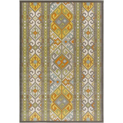 Agosto Green/Yellow Area Rug Rug Size: 69 x 98