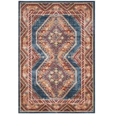 Isanotski Royal/Rust Area Rug Rug Size: 8 x 10