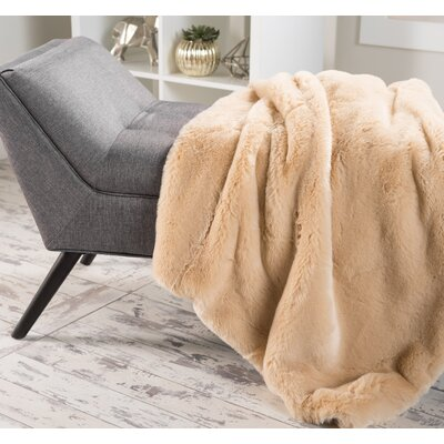 Ballys Faux Fur Throw Blanket Color: Tannery