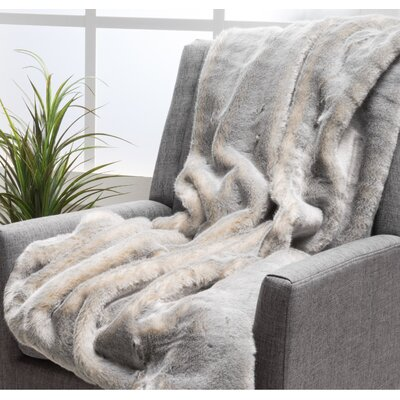 Ballys Faux Fur Throw Blanket Color: Timeless Gray
