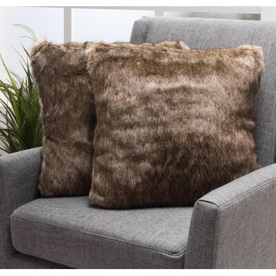 Las Animas Throw Pillow Color: Dark Brown