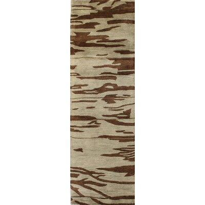 Fontana Hand-Tufted Chocolate Area Rug Rug Size: Runner 26 x 8