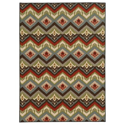 Fairway Tribal Chevron Multi Area Rug Rug Size: 22 x 39