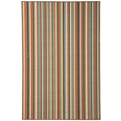Exeter Brown/Orange Indoor/Outdoor Area Rug Rug Size: 5'3