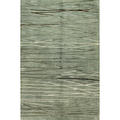 Glenwood Hand-Tufted Aqua Area Rug Rug Size: Rectangle 56 x 86