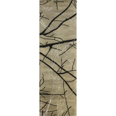 Gridley Hand-Tufted Taupe Area Rug Rug Size: Runner 26 x 8