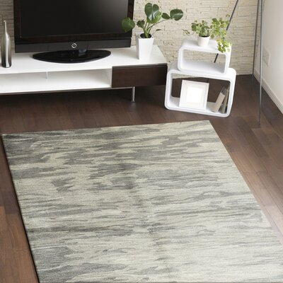Hermosa Hand-Tufted Grey Area Rug Rug Size: 86 x 116