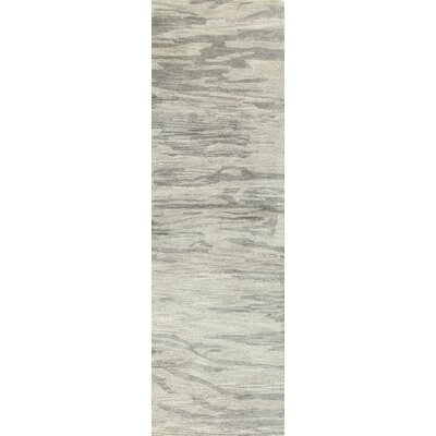 Hermosa Hand-Tufted Grey Area Rug Rug Size: Runner 26 x 8