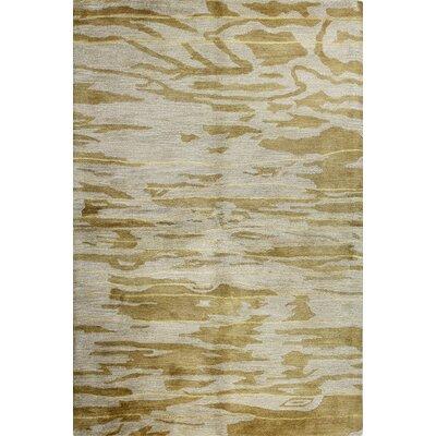 Howe Hand-Tufted Gold Area Rug Rug Size: Runner 26 x 8