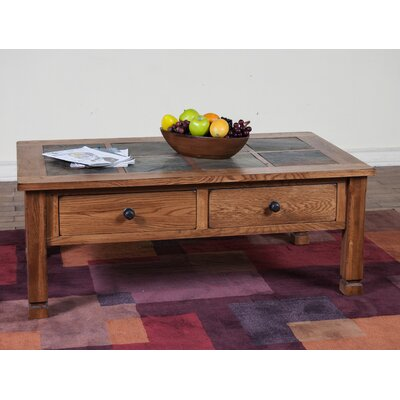 Fresno Coffee Table with Slate Top