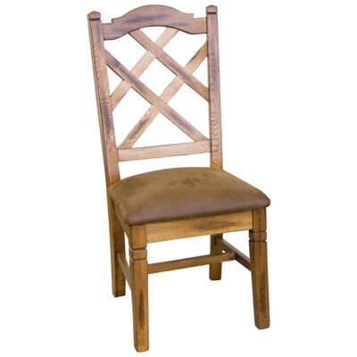 Fresno Side Chair (Set of 2) Chair Finish: Rustic Oak